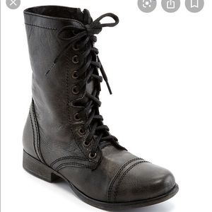 Steve Madden Troopa Military Leather Boots